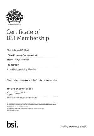 BSI Certificate 2016
