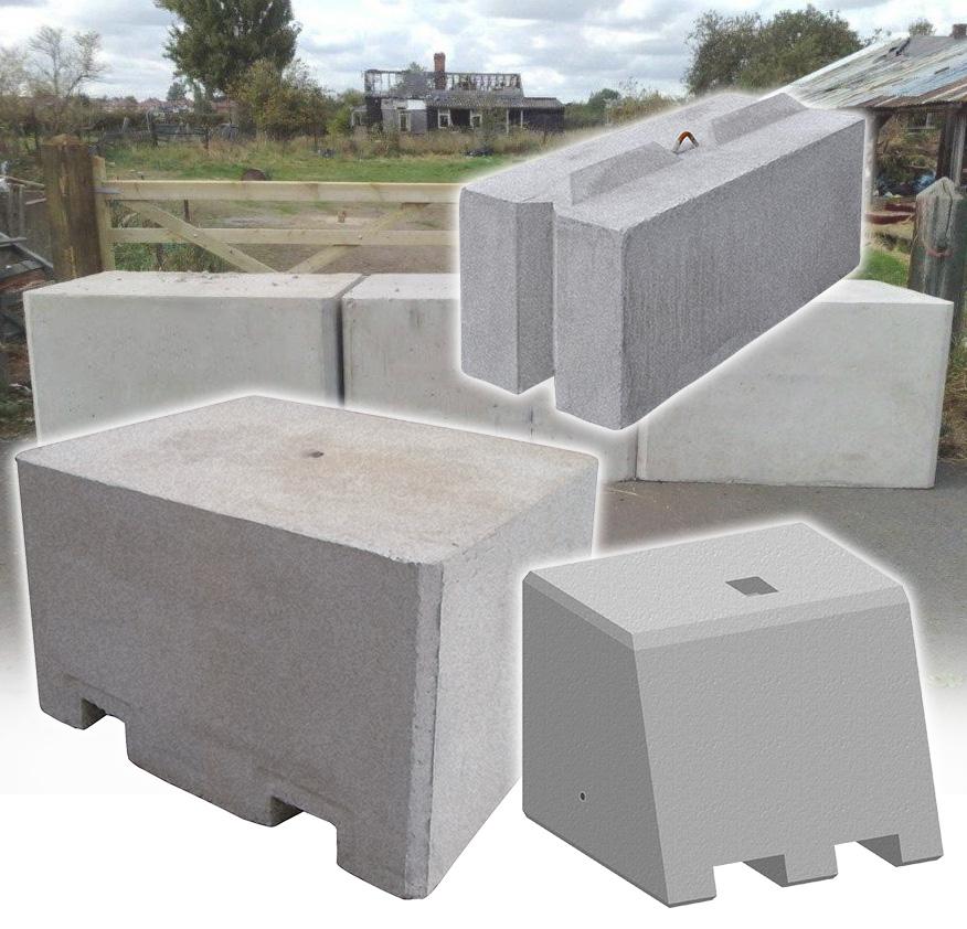 Precast concrete security barriers jersey
