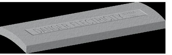Precast Concrete Cable Protection Cover Tiles