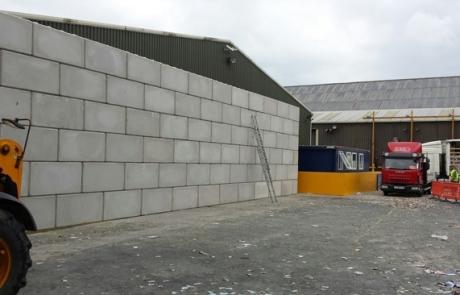 Fire Break Walls - Concrete Blocks