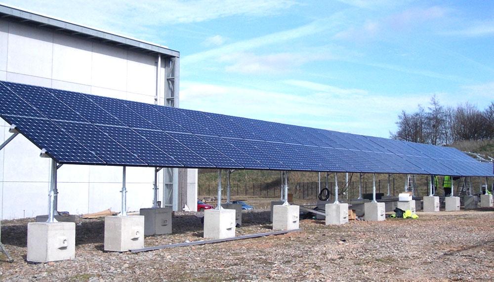 Duo precast blocks solar panel kentldege