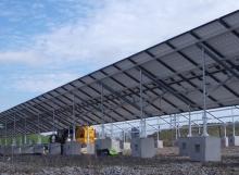 PV Interlocking Blocks - Concrete Feet - solar panels
