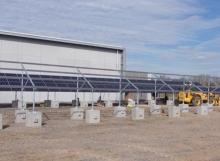 PV Blocks - Concrete Feet - Solar Panels