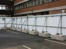 Hoarding Blocks - Kentledge Interlocking blocks