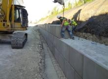 Concrete Legato retaining wall - Winvic 153