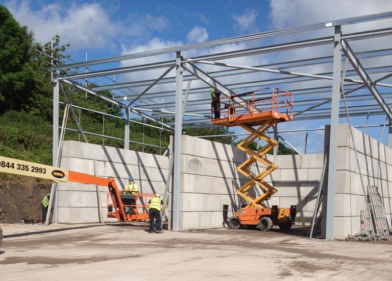 Legato concrete blocks Veolia -Telford