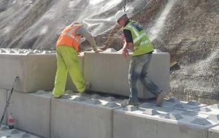 Legato Concrete Blocks - retaining wall