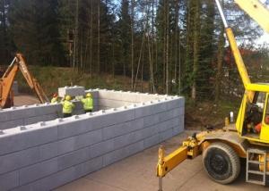 Compost Storage - concrete blocks