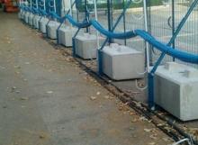 Fencing Counterweights - Interlocking Concrete Blocks