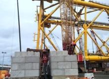 Counterweights - strand - guy anchors - interlocking blocks