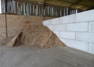 Wood chip Storage - Vee Blocks - Precast