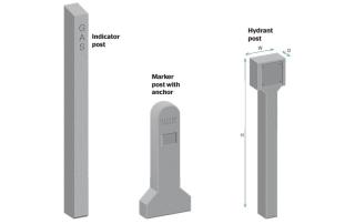 Concrete indicator posts
