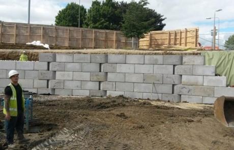 Precast Legato (Lego style) Retaining wall