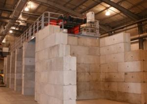 Material Storage Bays - Vee Concrete Blocks