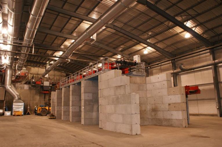 Industrial Buildings - interlocking precast concrete blocks