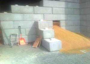 Grain Storage - Silage Clamps - interlocking precast blocks