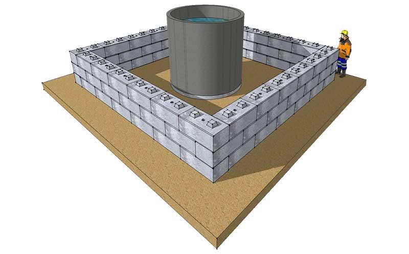 Bund walls - Duo Blocks