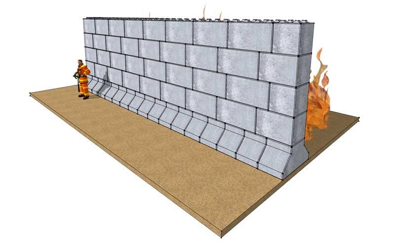 Fire wall/fire break - Legato Blocks