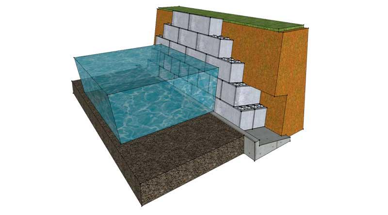 Flood barrier/flood prevention - Legato Blocks