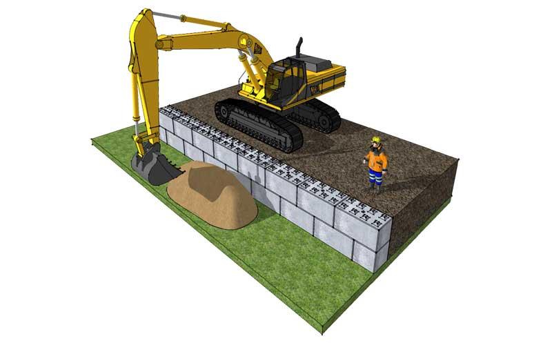 Temporary walling - Legato Blocks