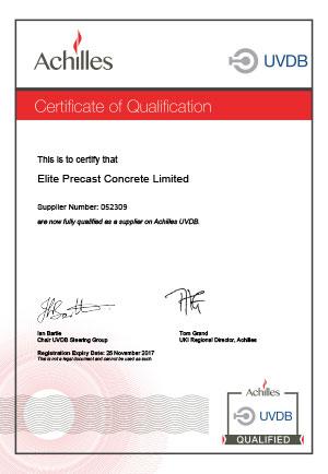 UVDB Certificate of Qualification 2017