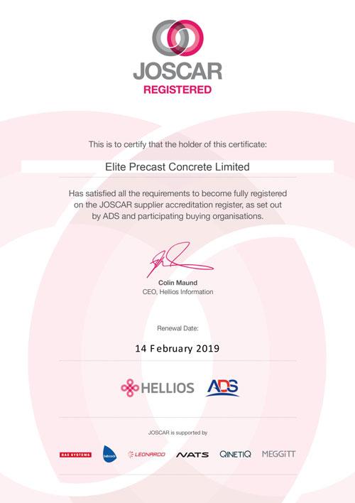 JOSCAR Certificate 2018 - 2019
