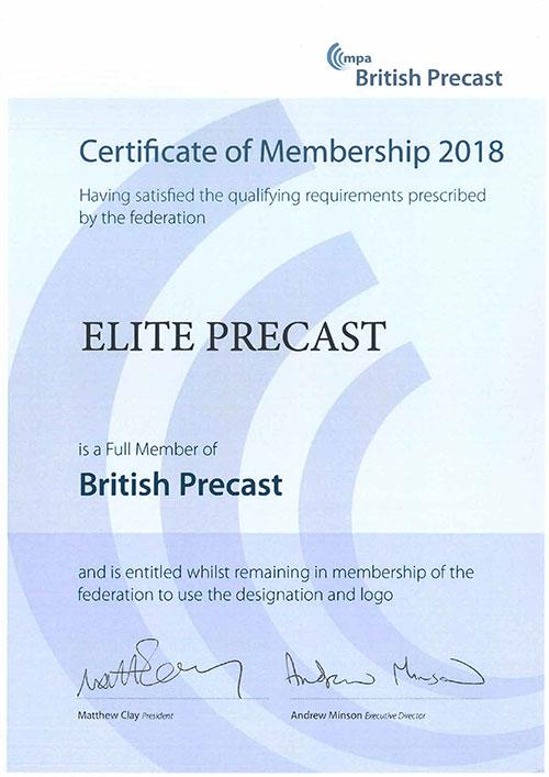 British Precast Member 2017-2018