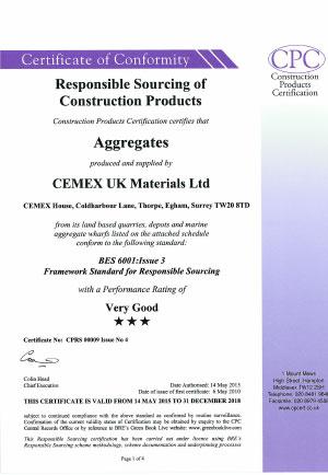 Cemex BES 6001 Aggregates