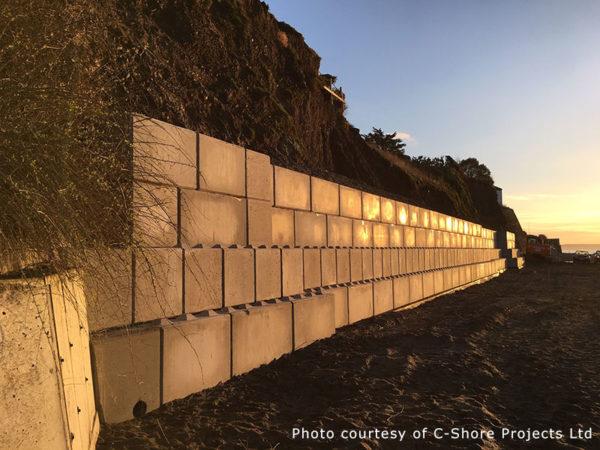 Sea wall erosion protection