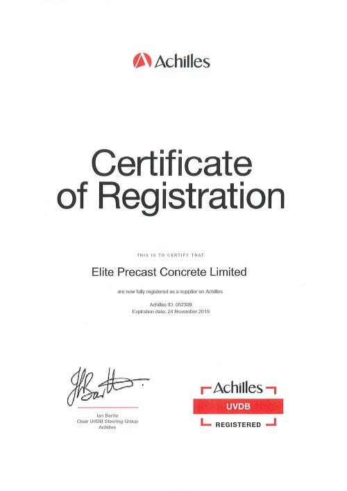 Achilles Certificate of Registration 2018-2019