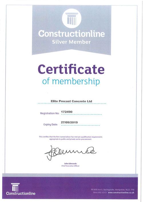Constructionline Certificate 2019