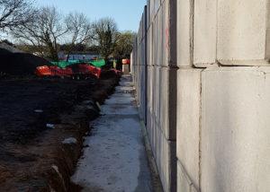 Legato block retaining wall