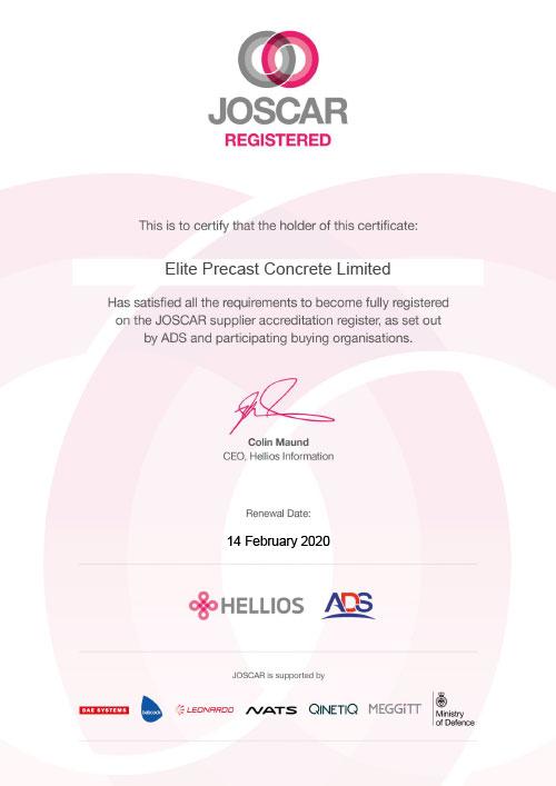 JOSCAR Registered Certificate 2019-2020